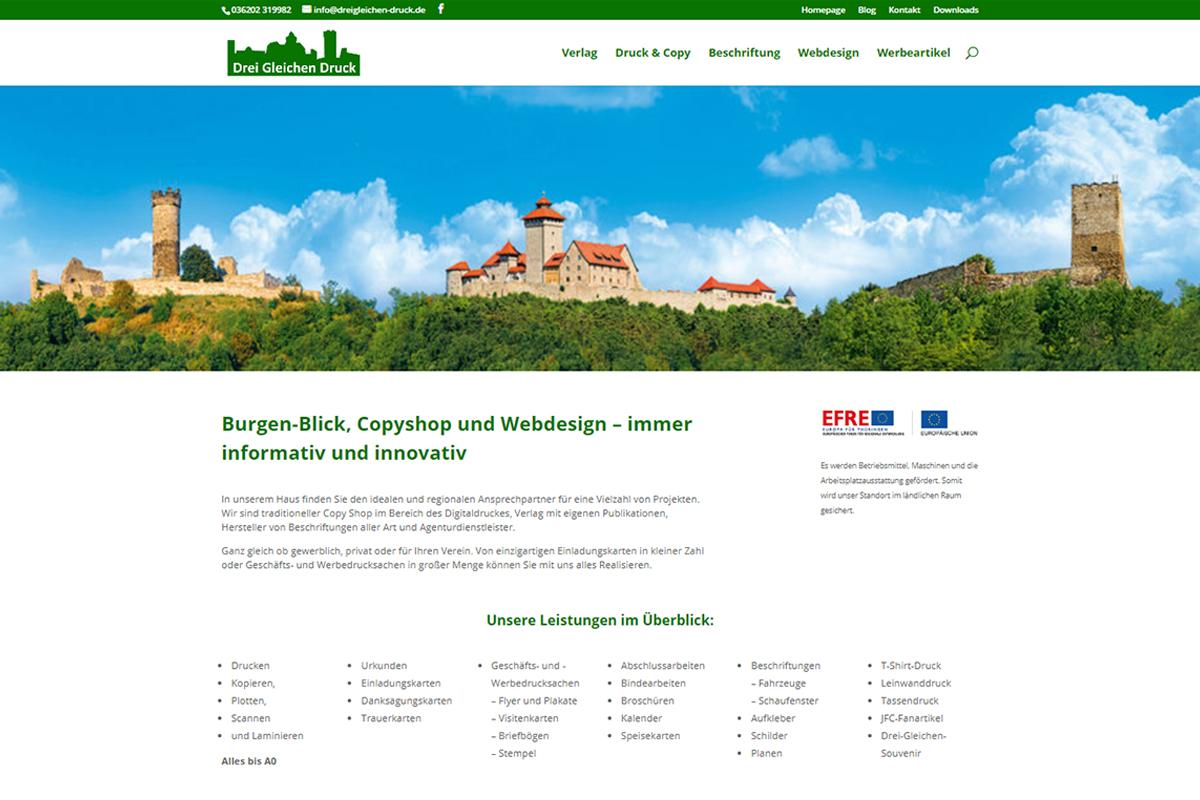 Burgen-Blick - Neue Webpräsenz von Drei Gleichen Druck