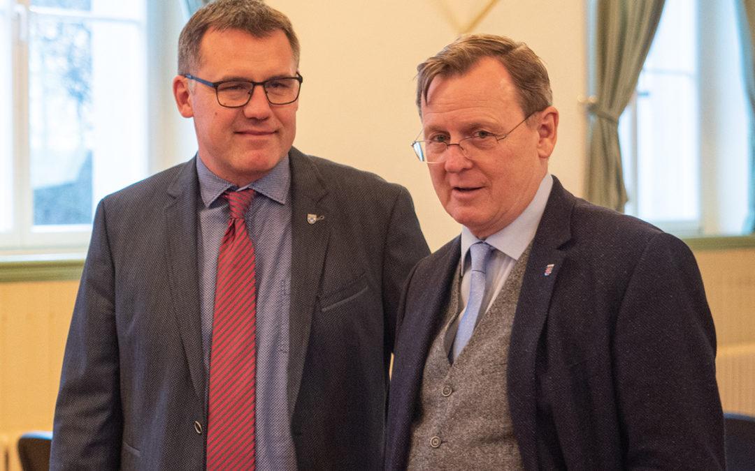 Ministerpräsident Ramelow in Neudietendorf