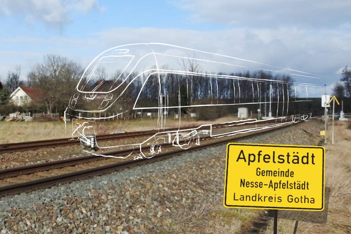 Burgen-Blick - Bahnhaltepunkt Apfelstädt