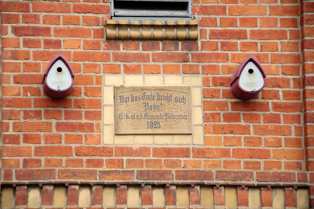Burgen-Blick - Serie alte Gebäude - Artenschutz Röhrensee
