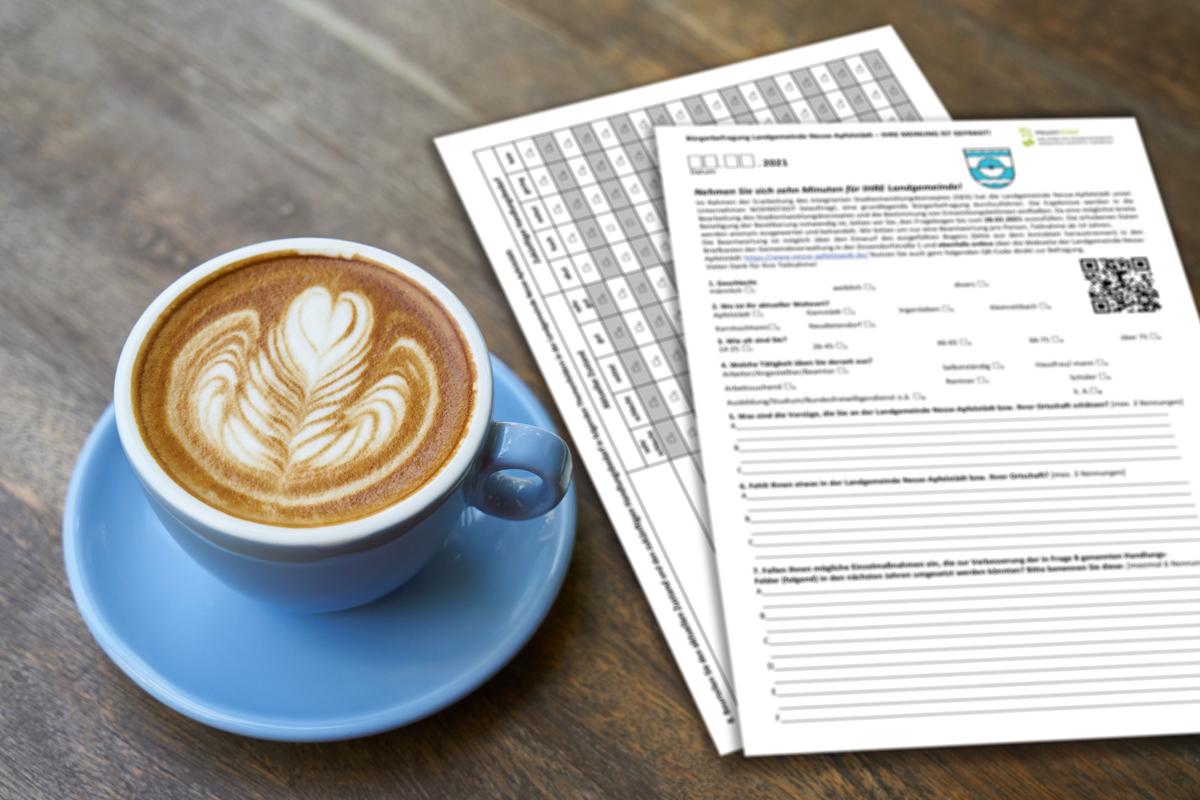 Burgen-Blick Integriertes Stadtentwicklungskonzept - Formulare mit Kaffee
